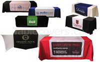 Custom printed logo table runners Made In Canada